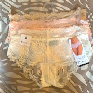3 very Sexy hipster panties NWT